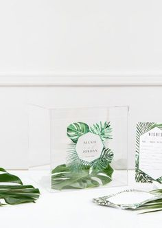 This contemporary acrylic box creates a sophisticated Wishing Well and the artistic Greenery Print personalized with your names and wedding date makes. Wishing Well Wedding, Lucky Colour, Wedding Keepsakes, Acrylic Box, Big Day, Perfect Wedding, Wedding Cards, Favorite Color, Greenery