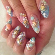 mermaid nails - Google Search