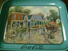 CocaCola Tray Metal Vintage Serving Dresden Ohio by FamilyandFaith