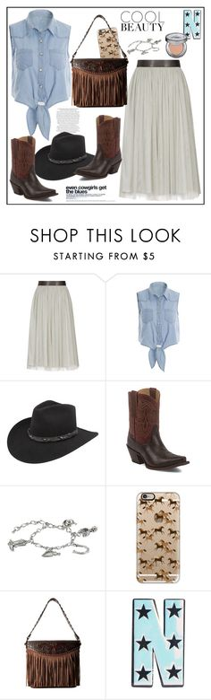 """Dress Like A Country Girl"" by biange ❤ liked on Polyvore featuring Reiss, Bailey Western, Tony Lama, M&F Western, Casetify, Urban Decay and country"