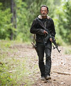 Since I won't see this years episodes till they come out on video, where did Rick get the AK-47..?