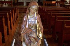 A Prayer to Saint Anne, Mother of Mary: Statue of Saint Anne with the Blessed Virgin Mary in Saint Anne's Church, Mackinac Island, Michigan.