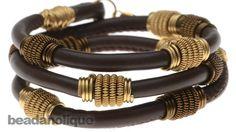 How to Make a Single Coil Wrapped Bead ~ Wire Jewelry Tutorials Wire Wrapped Jewelry, Wire Jewelry, Beaded Jewelry, Chunky Jewelry, Memory Wire Bracelets, Cord Bracelets, Leather Bracelets, Tassel Bracelet, Bangle
