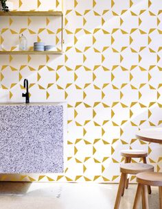 """Triangle Tooth"" Pattern Reusable Paint Wall Stencil by Gypsy Mint Stencil Company"