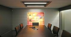 Sala de reuniões nas instalações da Media Capital em Queluz, Portugal