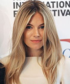 LOVE Sienna Miller's peachy sunkissed make-up - divine
