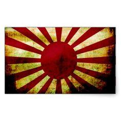 Imperial Japanese Flag - Japan Rectangular Sticker