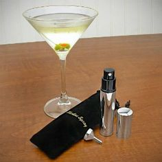 Stainless Steel Martini Vermouth Atomizer Spray Set Includes Sprayer Funnel and Black Pouch Martini Mister Gift Boxed >>> More info could be found at the image url. Perfect Martini, Martini Set, Wine Supplies, Colorful Cocktails, Wine Time, Cocktail Glass, Wine Drinks, Wines, Stainless Steel