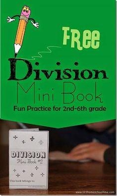 If you are looking for a fun, simple way for kids to practice and review division, this free printable mini book is perfect! Because p