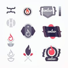 Building out a few initial vector shapes monochrome compositions playful bits for an Ember 2 course illustration.  Mix of flames embers and the distinctive handlebar { } brackets used when writing an Ember.js web app.  #ember #handlebars #sketches #javascript #js #vectorsketch #ideageneration #process #frontend #webdevelopment  #egghead #code #coding #developers #development