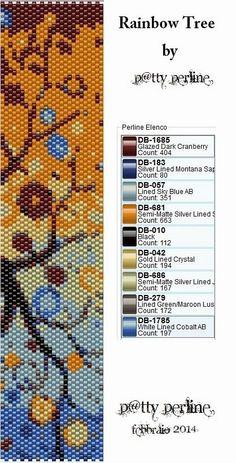 P@tty Perline : Rainbow bracelet - Pattern Peyote