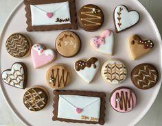 ♡♡♡ * * #アイシングクッキー#アイシング#クッキー#手作りクッキー#バレンタイン#ハート#ラブレター#ココア#ココアクッキー