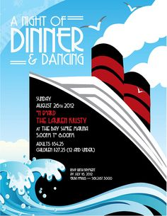 DIY Printable  Boat Ride Party Invitation by Stinkleberrie on Etsy, $35.00