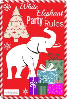 Blog post at Madame Deals, Inc. : White Elephant Party Rules  White Elephant Party Rules This game is sometimes called a Gift Swap, Yankee Swap, Black Santa, Chinese Gift [..]