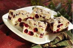 Cranberry Nut Bars features fresh or frozen cranberries and chopped walnuts. From the folks at Ocean Spray.
