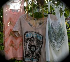 Affliction & Miss Me tops... Love that white tank top!