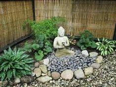 Image result for decoracion de patios pequeños con piedras