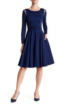 Split-Shoulder Belted Dress by BGL on @HauteLook