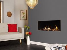 Buy Verine Eden Elite HE Slimline Gas Fire from Fires and Stoves, the UK's leading fire, stove and fireplace supplier. Fireplace Bookshelves, Fireplace Wall, Fireplace Design, Flueless Gas Stove, Flueless Gas Fires, Gas Fire Stove, Wall Gas Fires, Wall Colors