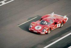 Le Mans 1970 - La 512S di Merzario/Regazzoni lanciata sul rettilineo del traguardo