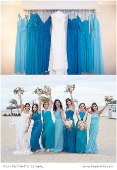 I LOVE mismatched bridesmaid dresses! These monochromatic shades of blue are PER… I LOVE mismatched bridesmaid dresses! These monochromatic shades of blue are PERFECT for a beach wedding. Bridesmaid Dress Shades, Beach Wedding Bridesmaid Dresses, Blue Beach Wedding, Mismatched Bridesmaid Dresses, Blue Bridesmaids, Dress Wedding, Bridesmaid Color, Turquoise Bridesmaid Dresses, Yellow Wedding