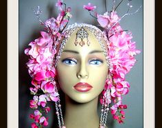 Tribal Headpiece ~ Head dress ~ Bellydance ~ Burning Man, Fantasy Wear, Fairy Head dress, Fairy Headpiece, burlesques