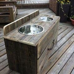 Yard sale dressor into dog food station http://www.dogseasysnack.com/shop/