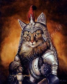 """Sir Lancelot"" 8x10"" Oil on panel. A portrait by Lord Truffles Royal Pet Portraits."