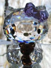 SWAROVSKI Crystal Hello Kitty with Teddy Bear Figurine Mint & NIB