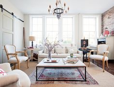 Traditional and neutral living room