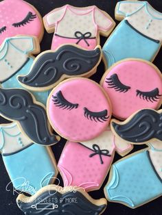 Stashes or Lashes Cookies, Gender reveal Party, baby shower Favors, gender reveal Cake, stashes or lashes favors by RileyBakes on Etsy https://www.etsy.com/listing/525662376/stashes-or-lashes-cookies-gender-reveal