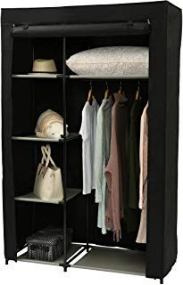 MaidMAX 7 Tiers Cloth Hanging Shelf with a Widen Strap Chevron 53 Inches High 3 Foldable Drawers and Divided Panels for Closet Organizer