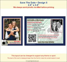 Save The Date Sample  Trading Card  Sport Themed Weddings