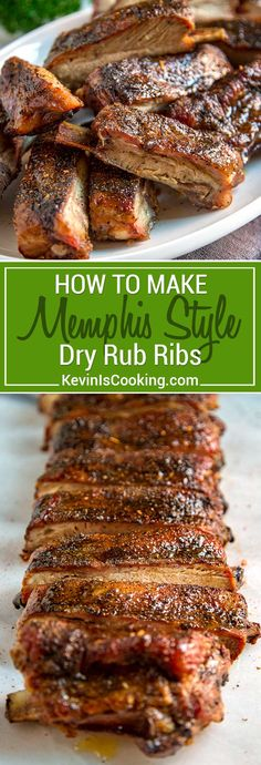 When making Memphis Style Ribs, it's all about the dry rub. The rub of pepper and spices is your source of flavor since this is a rib that doesn't rely on a BBQ sauce. A light mop sauce of vinegar is most often used during cooking, but I like to use apple juice. via @keviniscooking