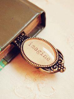 Imagine Metal Handmade Bookmark