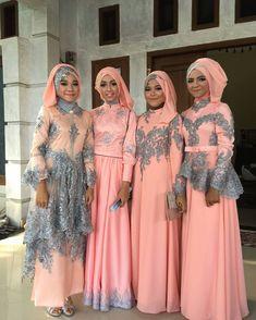 by cutmina_mua Dress Brokat, Kebaya Dress, Kebaya Muslim, Islamic Fashion, Muslim Fashion, Beautiful Hijab, Beautiful Outfits, Abaya Fashion, Fashion Dresses
