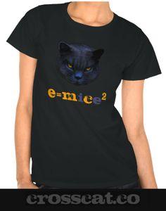 Cross Cat is Einstein! e=mc² or is it e=mice² ??          #crosscat #cats #einstein #geek #nerd #geekgifts #blackcats #e=mc² www.crosscat.co