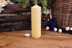 Κεριά Κυλινδρικά Εκρού Φ6x20εκ Pillar Candles, Taper Candles