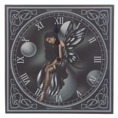 Dark Fairy Bubbles, Clock by Lisa Parker