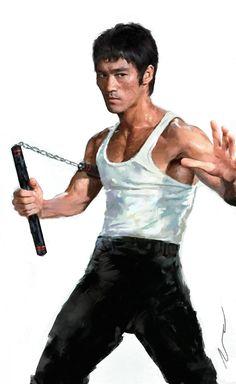 Bruce Lee by Dave Seguin Bruce Lee Art, Bruce Lee Martial Arts, Bruce Lee Quotes, Karate, Martial Arts Movies, Martial Artists, Kung Fu, Eminem, Jeet Kune Do