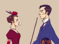 Victorian Sherlolly (by lexieken).  *** I do NOT ship Sherolly, but this is a cute picture.