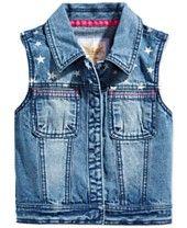 Tommy Hilfiger Girls' Star Denim Vest