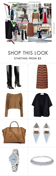 """""""60 Second Style: Best NYFW Street Style"""" by iv-gromova on Polyvore featuring мода, 3.1 Phillip Lim, Emanuel Ungaro, Gucci, Valentino, DKNY, Wolf & Moon, Just Cavalli, Bling Jewelry и NYFW"""