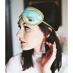 ****GUARANTEED HALLOWEEN DELIVERY FOR ORDERS PLACED BY OCTOBER 21 2016****Sleep in glamorous style with our exclusively designed and handmade sleep mask and tassel ear plug set, inspired by the iconic