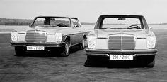 Mercedes-Benz - Baureihe W 115 und W 114 Mercedes 220, Mercedes Benz Coupe, Mercedes W114, Mercedes Benz Autos, Mercedes E Class, Daimler Benz, Old Cars, Car Pictures, Antique Cars