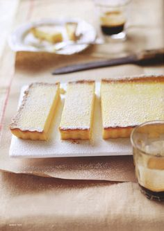 peanut butter cookies dessert 2 ingredient lemon bars - mix 1 angel food cake mix with 1 can of lemon pie filling. Bake in a pan @ Lemon Desserts, Lemon Recipes, Just Desserts, Sweet Recipes, Delicious Desserts, Yummy Food, Tasty, Dessert Healthy, Dessert Crepes