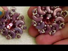 DIY Beading Tutorial: Shooting star - Embed a Cabochon w Arcos and Minos (Les Perles Par Puca) - YouTube