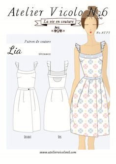 Lia FR - Atelier Vicolo N° 6 Cartamodelli ~ Patrons de couture Sewing Patterns Free, Clothing Patterns, Dress Patterns, Free Sewing, Handmade Clothes, Diy Clothes, Clothes For Women, Free Pattern Download, Sewing Blouses