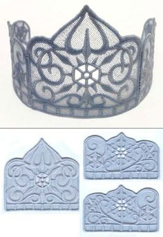 Lace #crown machine #embroidery pattern via #Urban_Threads