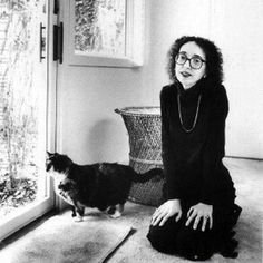 """""""I write so much because my cat sits on my lap. She purrs so I don't want to get up. She's so much more calming than my husband.""""    - Joyce Carol Oates"""